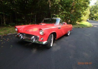 Larry's 1956 Ford Thunderbird - Fiesta Red